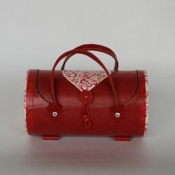 Mallette papiers déco coeur rouge - petit modèle