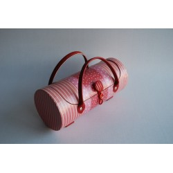 Mallette papiers déco rose - petit modèle